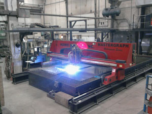 Large Travel CNC Plasma Cutting